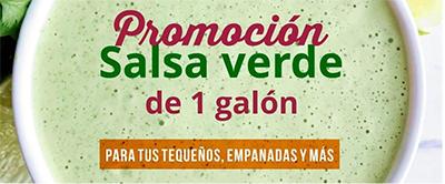 1 Galon de Salsa Verde Gratis!